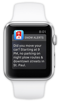 Snow Alerts watch notification